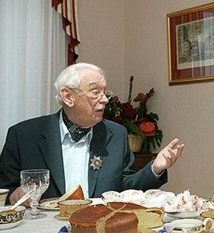 Sergey Mikhalkov - Mikhalkov celebrating his 90th birthday on 13 March 2003