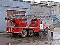 Мойка пожарной автолестницы, Коряжма.JPG