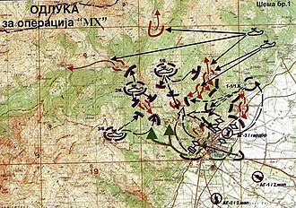 2001 insurgency in the Republic of Macedonia - Plan for the military action МH-2 in Tetovo