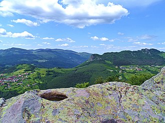 Rhodope Mountains - View from Belintash towards the village of Vrata