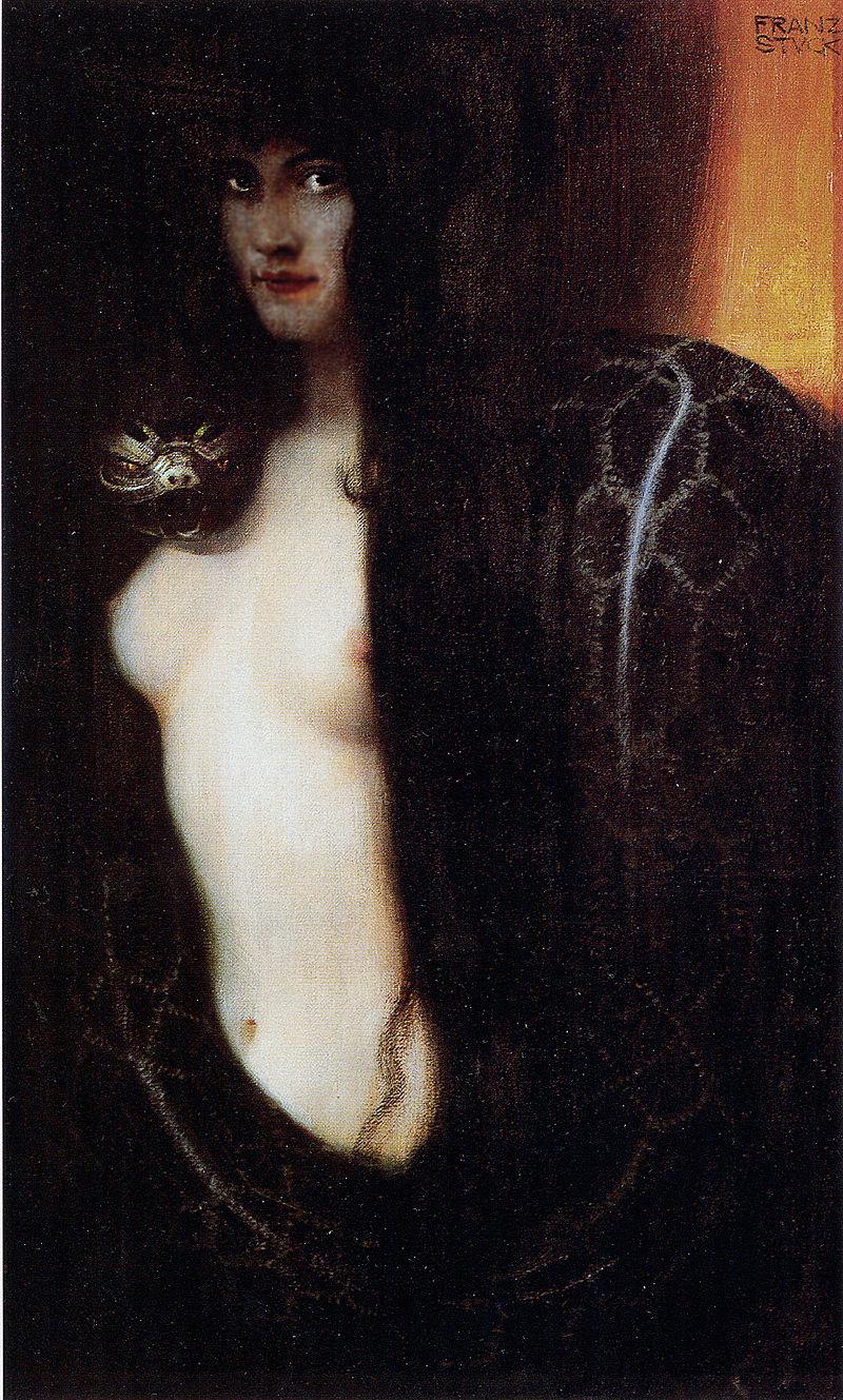 Lilith: Franz von Stuck, The Sin, c. 1893