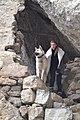 Этот славный пёс всегда встречает посетителей Дзивгисской крепости.jpg