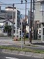 北海道道100号函館上磯線・起点に設置のキロポスト(起点)標識.jpg