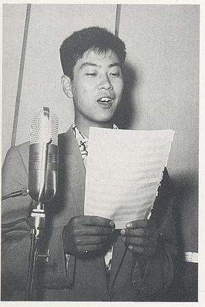 Yujiro Ishihara - Yujiro Ishihara on the poster for Shori-sha (1957)