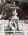 구례 화엄사 사사자삼층석탑 앞 석등.jpg