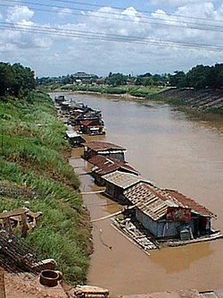 Floating houses on the Nan River in Phitsanulok