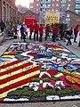 063 Fabra i Coats (Barcelona), mostra Som Cultura Popular, catifa de flors a l'esplanada.jpg