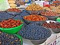 089 Marg'ilon Dehqon Bozori, mercat agrícola de Marguilan, fruita seca.jpg