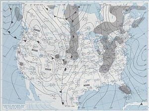 Cold wave of January 1977 - Image: 1 19 1977 weather map