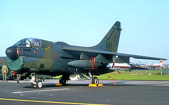 107th Fighter Squadron - A-7D of the 107th Tactical Fighter Squadron about 1989