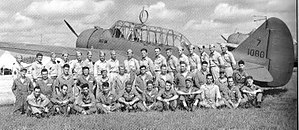 Illinois Air National Guard - 108th Observation Squadron maintenance crew at Howard Field, Panama, with an O-47 (39-108-07)
