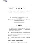 116th United States Congress H. R. 0000122 (1st session) - Original Living Wage Act.pdf
