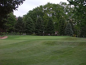 Penn State Golf Courses - 11th Green Today (18th Green before 1994 revisions)