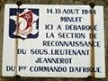 14-15 août 1944 - 1er Commando d'Afrique - Plaque commémorative.jpg
