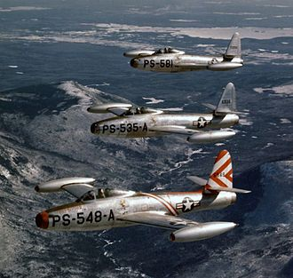 Republic F-84 Thunderjet - P-84Bs of the 48th Fighter Squadron, 14th Fighter Group, 1948.