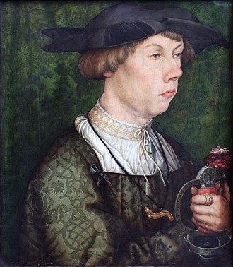 Hans Holbein the Elder - Image: 1522 Holbein d.Ä. Angehöriger der Augsburger Familie Weiss anagoria