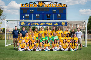 Texas A&M–Commerce Lions women's soccer - Image: 15328 Soccer Team 2015 0527 (20639227066)