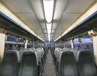 British Rail Class 156 - Refurbished interior of a Northern Spirit Class 156