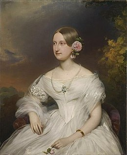 1842 portrait of Princess Maria Carolina Augusta of Bourbon-Two Sicilies by Franz Schrotzberg (Musée Condé).jpg