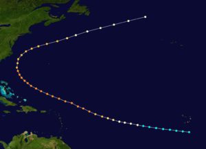 1853 Atlantic hurricane season - Image: 1853 Atlantic hurricane 3 track
