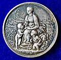 1871 Medal by Chaplain, Mother with 2 Children during the Siege of Paris 1870-1871, obverse.jpg
