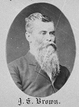 John Evans Brown - Brown in 1882