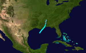 1895 Atlantic hurricane season - Image: 1895 Atlantic tropical storm 1 track