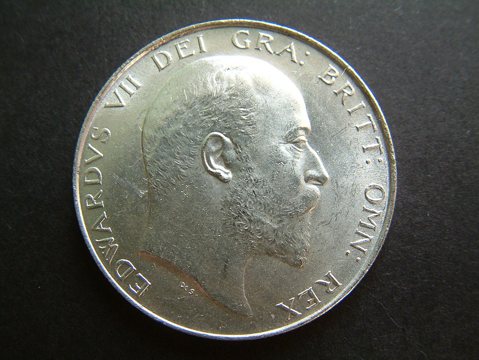 1905 Edward VII Halfcrown (obverse) UNCIRCULATED