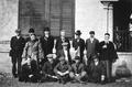 1910年汇文书院附中中外教员在校园内合影.png
