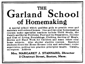Garland Junior College - Advertisement for the Garland School, 1921