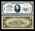 1929 - Twenty Dollar Bill Merchants National Bank Allentown PA.jpg