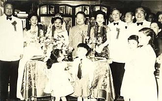 Chinese people in Egypt - Image: 1955 Ma Bufang with KMT ambassador to Saudi Arabia