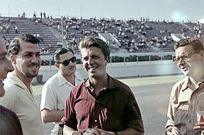 Wolfgang von Trips - Von Trips (centre) at the 1957 Argentine Grand Prix