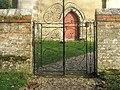 1982 gates at the entrance to Warnford Churchyard - geograph.org.uk - 1582233.jpg