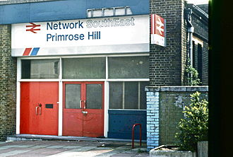 Primrose Hill railway station - The station entrance in 1990