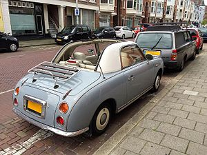 Nissan rasheen wikivisually nissan figaro back of the nissan figaro fandeluxe Choice Image