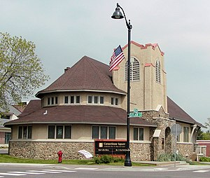 National Register of Historic Places listings in Polk County, Wisconsin - Image: 1st Baptist Osceola