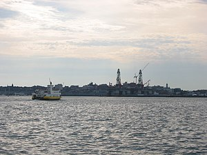 Casco Bay - A Casco Bay Lines ferry returning to Portland after its journey out into the bay