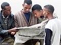 2004 reading newspaper Addis Ababa Ethiopia 91389965.jpg