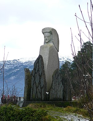 English: Witchmonument at Anda, in Gloppen, No...