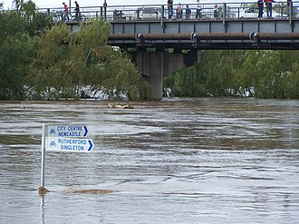 Maitland, New South Wales - Flooding along the Maitland riverfront during the 2007 flood