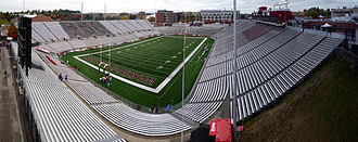 Martin Stadium - View from southwest corner in 2008, between the 2006 and 2012 renovations.