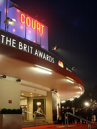 Brit Awards - The entrance to Earls Court in London on the evening of the 2008 Brit Awards ceremony
