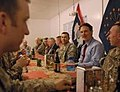 2010 1-5 Bayh eating with troops.jpg