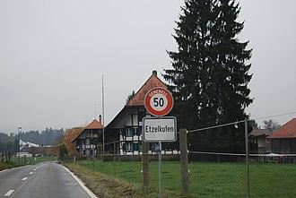 Etzelkofen - Etzelkofen village entrance