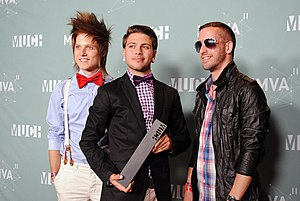 Abandon All Ships - Members Martin Broda, Angelo Aita and Daniel Ciccotelli at the 2011 MuchMusic Video Awards.