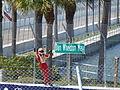 2012 Honda Grand Prix of St. Petersburg Helio Castroneves Dan Wheldon 2.JPG