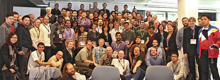 Group photo 2012. 40 countries participated in this annual event.