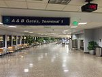 2015-04-13 23 40 11 View towards Terminal 1 and Concourse B from the middle of the corridor connecting Concourse B and Concourse C in Salt Lake City International Airport, Utah.jpg