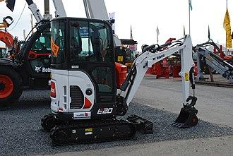 Compact excavator - A Bobcat compact excavator